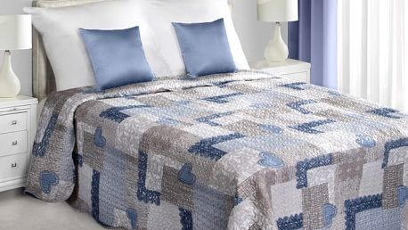 Přehoz na postel CHRISTIAN 220x240 cm modrá/stříbrná Mybesthome