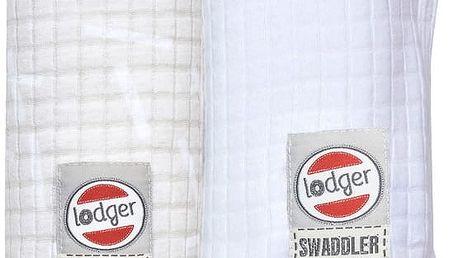 LODGER Bavlněná osuška Swaddler Sprinkle Print 2 ks - Ivory/White