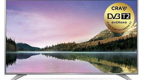 Televize LG 49UH6507 stříbrná/chrom