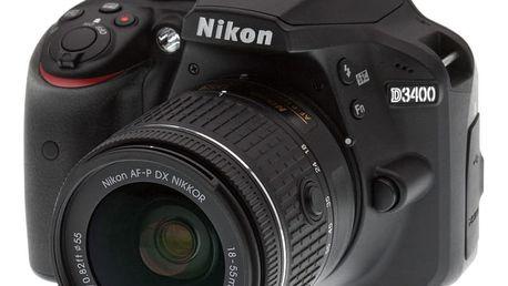 Nikon D3400 + 18-55 AF-P DX - VBA490K002 + Spací pytel Alpine Pro Saltan v ceně 999 Kč