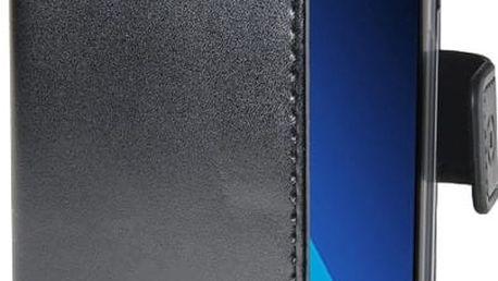 CELLY Air Pouzdro typu kniha pro Samsung Galaxy A3 (2017), PU kůže, černé - AIR643BK