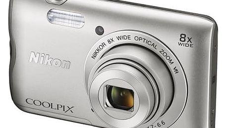 Digitální fotoaparát Nikon Coolpix A300 stříbrný