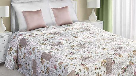 Přehoz na postel SEBASTIEN 220x240 cm bílá/béžová Mybesthome