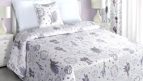 Přehoz na postel FILIPPO 220x240 cm bílá Mybesthome