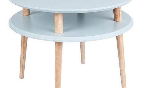 Světle šedý konferenční stolek Ragaba UFO,Ø57cm - doprava zdarma!