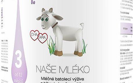 NAŠE MLÉKO 3 (12m+) 750g - mléčná kojenecká výživa