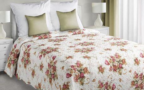 Přehoz na postel FLOWERS 220x240 cm vínová Mybesthome