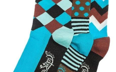 Sada 3 párů ponožek Funky Steps Maiki, unisex velikost