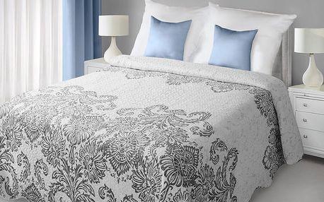 Přehoz na postel TITTA 220x240 cm stříbrná Mybesthome