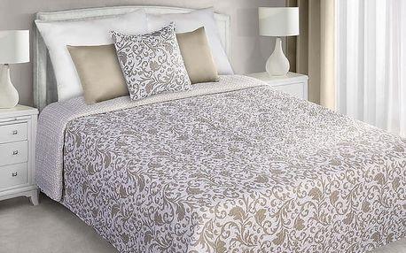 Přehoz na postel LORY 220x240 cm béžová Mybesthome
