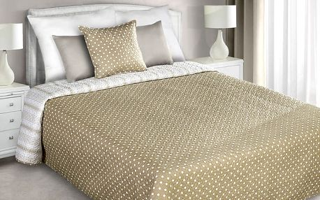Přehoz na postel ELINE 220x240 cm béžová Mybesthome