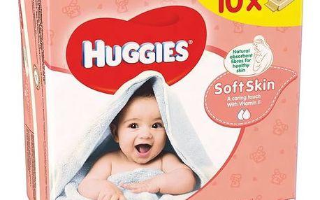 Ubrousky čistící Huggies Soft Skin 10 x 56ks