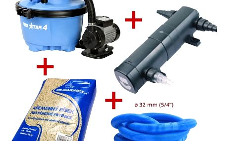 Marimex Písková filtrace ProStar 4 + písek + UV lampa + hadice - 19900007