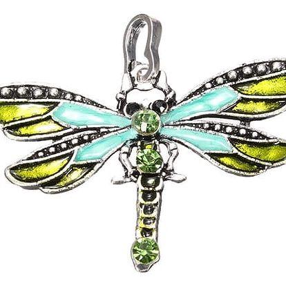 Přívěsek vážky s barevnými kamínky