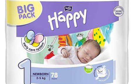 Plenky Bella Baby Happy New Born Big Pack 78 ks Ubrousky čistící Bella Baby Happy hedvábí a bavlna 64 ks (zdarma)