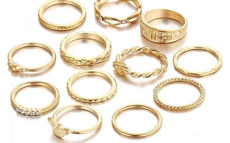Sada prstenů pro ženy - 12 ks - dodání do 2 dnů