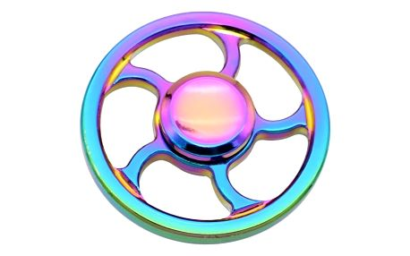 Kovový fidget spinner s duhovým efektem - 5 variant