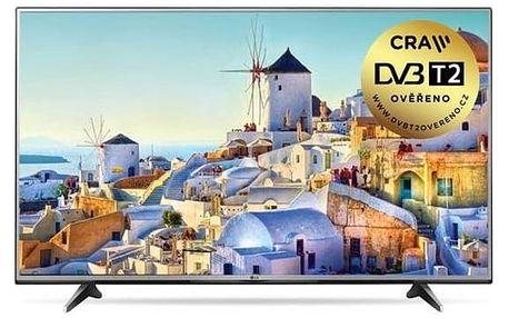 Televize LG 60UH605V stříbrná + Doprava zdarma