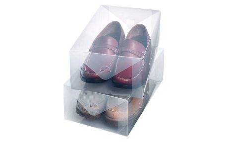Sada 2 velkých boxů na obuv Ordinett