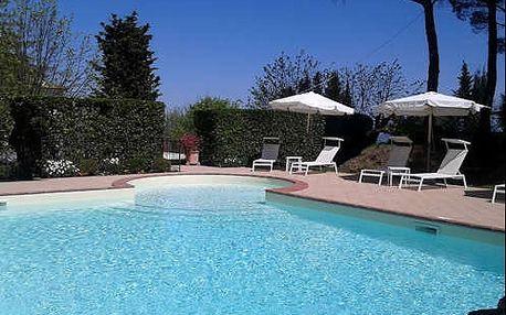 4 * hotel s bazénem v krásném prostředí lázní v Toskánsku nedaleko Florencie