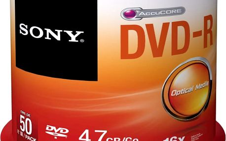 Sony DVD-R 4,7GB 16x Spindle, 50ks - 50DMR47SP