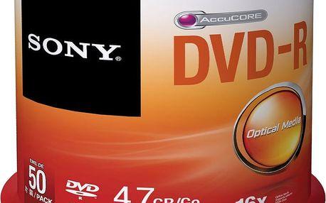 Sony DVD-R 4,7GB 16x Spindle, 50ks - 50DMR47SP