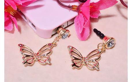 Protiprachová ozdoba v podobě motýlka