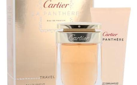 Cartier La Panthere dárková kazeta pro ženy parfémovaná voda 75 ml + tělové mléko 100 ml