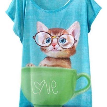 Ležérní triko s originálními motivy pro dámy
