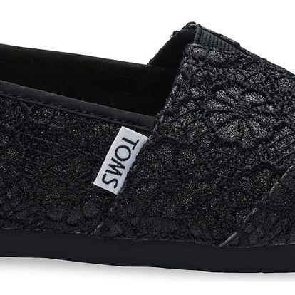 Toms černé boty Crochet Glitter - 38