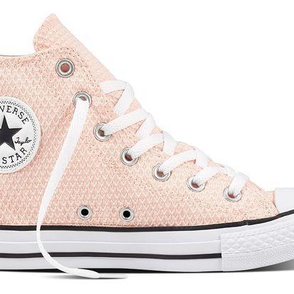 Converse pudrové tenisky CTAS HI White/Vapor Pink - 41