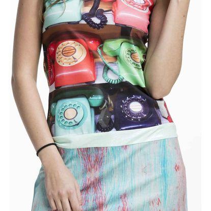 Culito from Spain barevné šaty Telefono - S