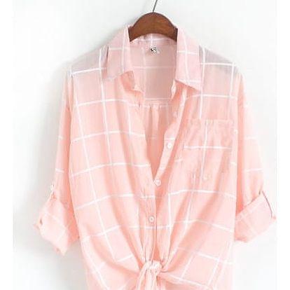 Vzdušná kostkovaná oversize košile