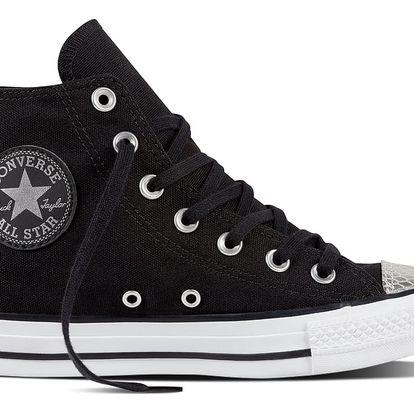 Converse černé tenisky se stříbrnou špičkou CTAS HI Black/Silver - 40
