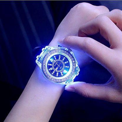 Dámské hodinky s LED osvětlením - 7 barev