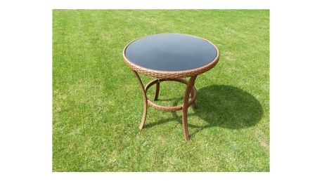 Stůl Rojaplast ratan 80cm hnědý