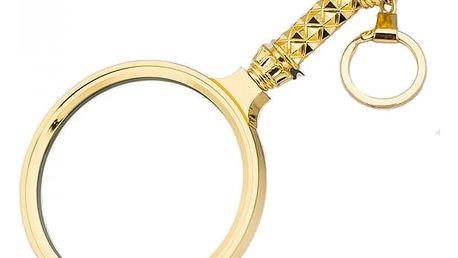 Zdobená mini lupa ve zlaté barvě