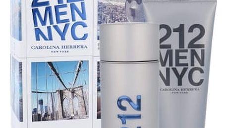 Carolina Herrera 212 NYC Men dárková kazeta pro muže toaletní voda 100 ml + gel po holení 100 ml
