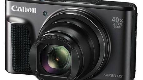 Digitální fotoaparát Canon PowerShot SX720HS (1070C002) černý Paměťová karta Kingston SDXC 64GB UHS-I U3 (90R/80W) (zdarma) + Doprava zdarma