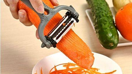 Kuchyňská škrabka se třemi čepelemi - 3v1