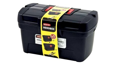 Sada kufrů na nářadí Curver 02897-888 černá/červená
