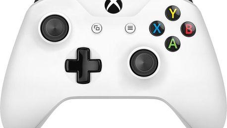 Microsoft Xbox ONE S Gamepad, bezdrátový, bílý (PC, Xbox ONE) - TF5-00003