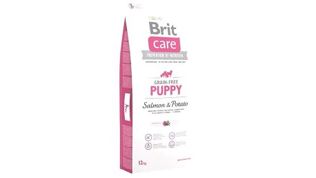 Granule Brit Care Grain-free Puppy Salmon & Potato 12 kg Granule Brit Care Grain-free Puppy Salmon & Potato 3 kg (zdarma) + Doprava zdarma