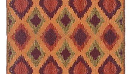 Oranžový oboustranný venkovní koberec Green Decore Diamond, 120 x 180 cm - doprava zdarma!