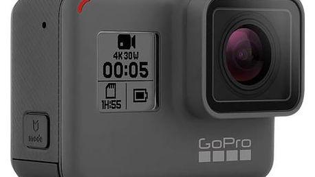 Outdoorová kamera GoPro HERO5 Black černá/šedá Držák GoPro na prsa (zdarma)Baterie GoPro pro HERO 5 Black, nabíjecí (zdarma) + Doprava zdarma