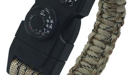 Outdoorový paracord náramek pro muže - 4 varianty