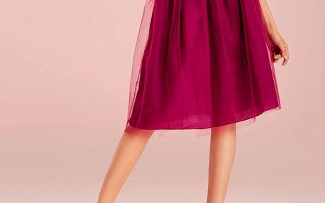 Deha fialová tylová sukně - M