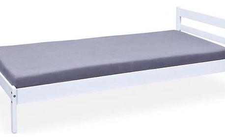 Finn - Rám postele 200x90, rošt (bílá)