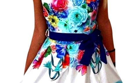 Veselé dámské šaty s květinami - 2 barvy