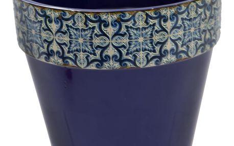 Modrý květináč SohoAndDeco Geometrico